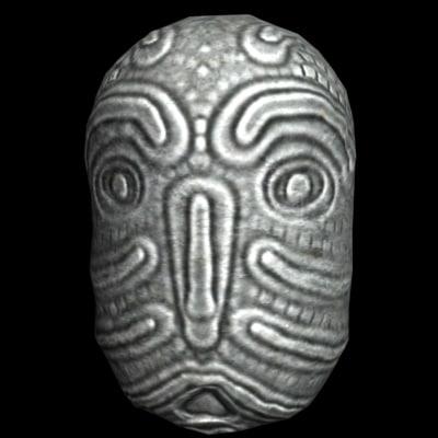 3ds max stone idol head
