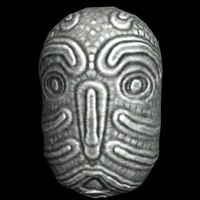 3ds max stone idol head