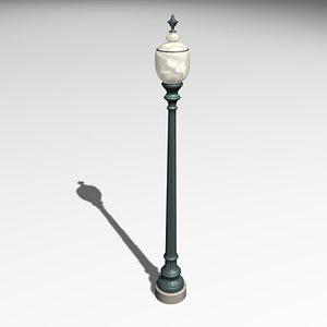 3d lamp post model