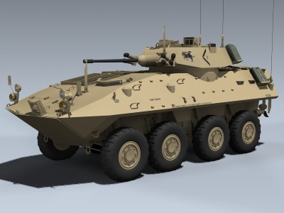 3d model lav-25 piranha usmc-desert