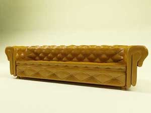 3d model antique sofa chesterfield