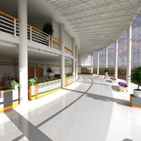large lobby 3d model