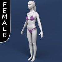 polygonal female head c4d