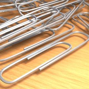 3d paper clips model