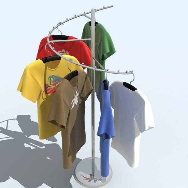 3ds max rack shirts
