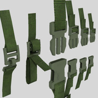 3d backpack quick release clips model