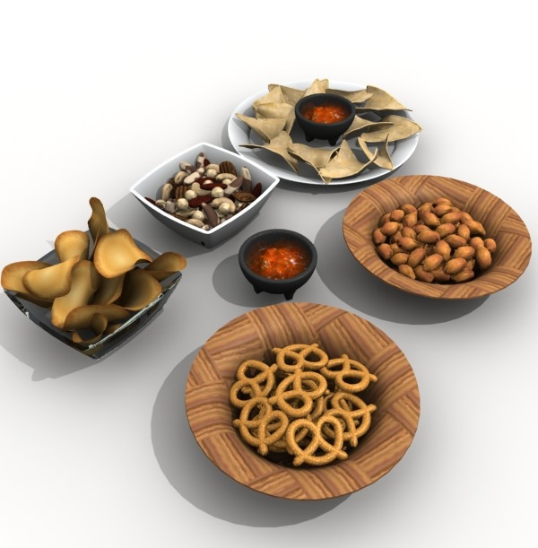 3d model snack bowls