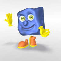funny cartoon character tush 3d model