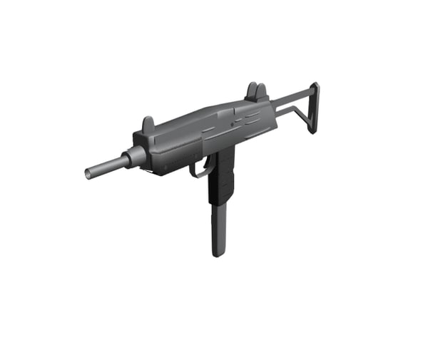 3d muchine gun model