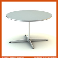 3d arne jacobsen table model