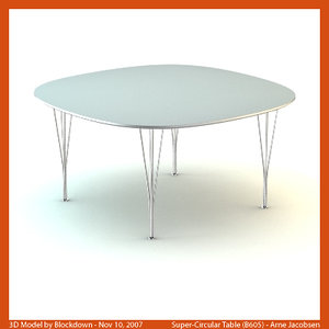 3ds max arne jacobsen table