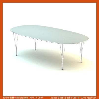 3dsmax arne jacobsen table for Division 2 table 98 99
