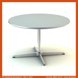 3d arne jacobsen table model
