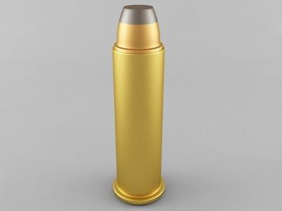 3d model of 357 magnum cartridge