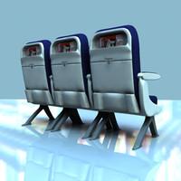 Airplane Economy Class Seats