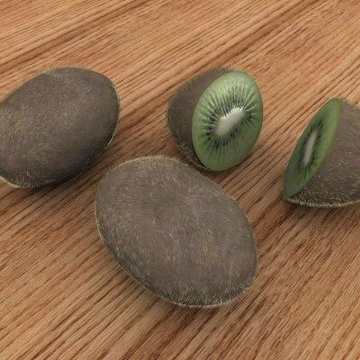 kiwi fruits 3d max