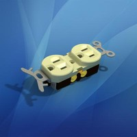 duplex electrical outlet 3d model