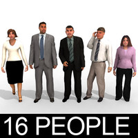 16 3d People Models - Business 2
