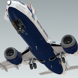3d model 737-300 plane british airways