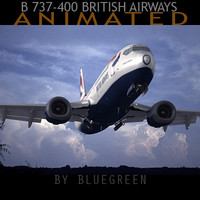 3d 737-400 british airways