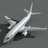 3d 737-500 plane