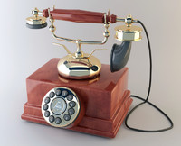 3d antique phone replica-sultan r8 model