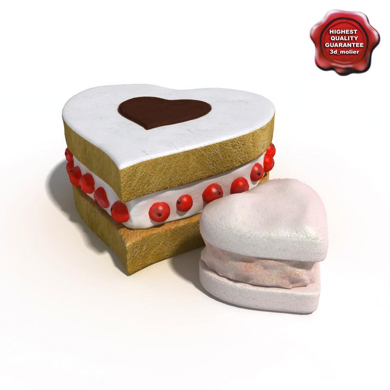 3d cakes modelled model