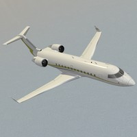 challenger 850 business jet 3d c4d