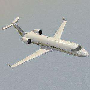 challenger 850 business jet 3d c4d