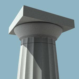 3ds doric column