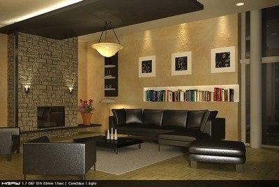 living room scene kray 3d lwo