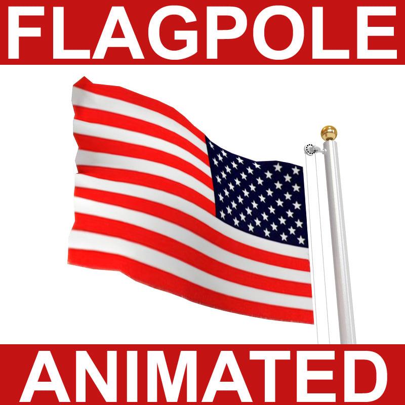 3d flagpole animation britains model