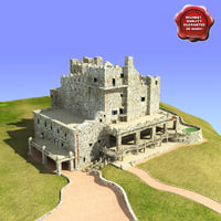 castle gillette 3d model