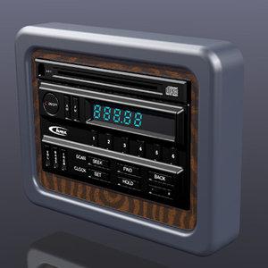 3dsmax in-dash-radio cd player