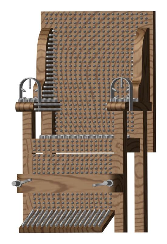 chair inquisition 3d model