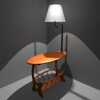 obj lamp table