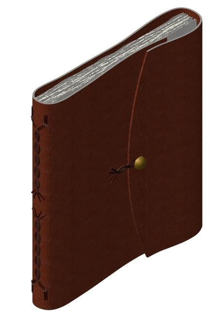 3ds max leather parchment book