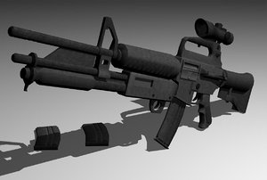 3d model m4 assualt rifle