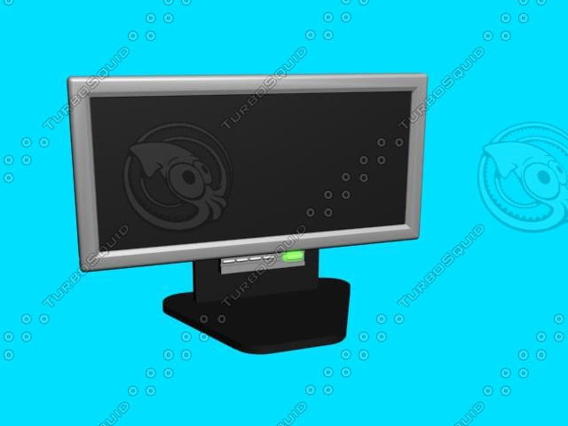 3d model of flat screen monitor