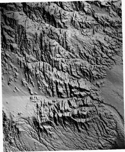3d terrain nv bridge canyon model