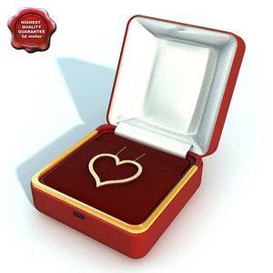 3d model necklace heart
