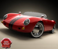 3d resolution porsche spyder 550