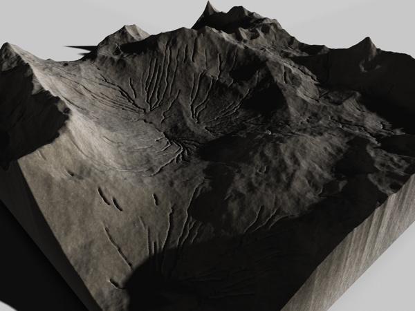 mountainous landscape c4d
