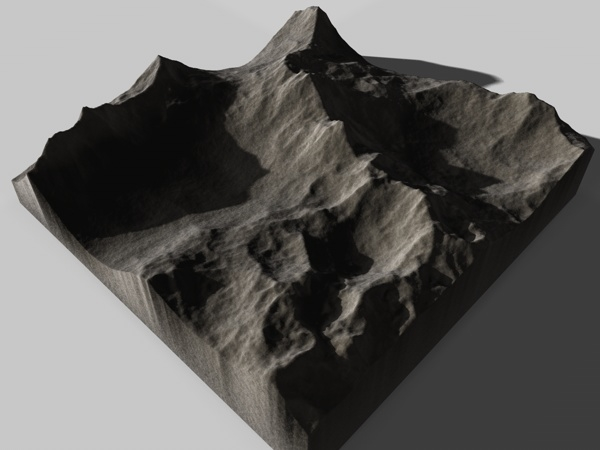 realistic terrain landscape 3d model