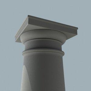 3ds max tuscan column