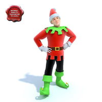 3d model elf modelled