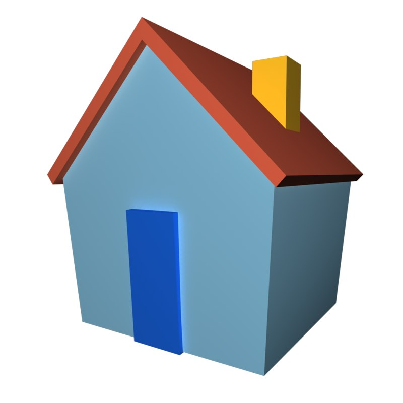 3d model of simple house msn