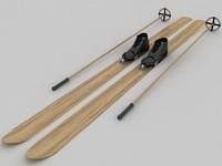 3d model skis