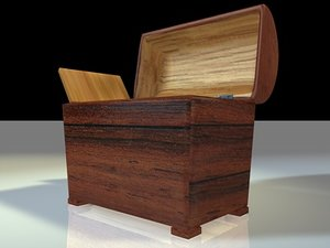 3d model wooden chest