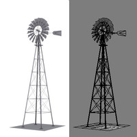 3d model simple windmill